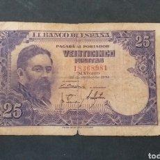 Banconote spagnole: BILLETE 25 PESETAS ESPAÑA AÑO 1954. Lote 293716868
