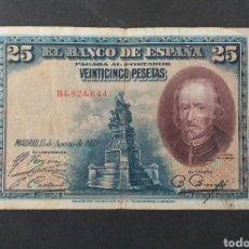 Banconote spagnole: BILLETE 25 PESETAS ESPAÑA AÑO 1928. Lote 293725363