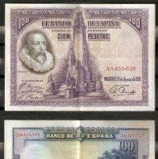 Billetes españoles: BILLETE DE 100 PESETAS 1928 . CERVANTES. Lote 294090868