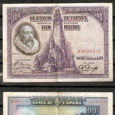 Billetes españoles: BILLETE DE 100 PESETAS 1928 . CERVANTES. Lote 294090933