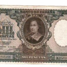 Billetes españoles: 1000 PESETAS 1940 . BARTOLOME MURILLO. Lote 294173858