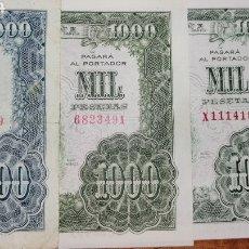 Billetes españoles: RARISIMOS 3 BILLETES DE 1000 PESETAS MADRID 1957 VARIEDADES DE COLOR VER FOTOS Y DESCRIPCIÓN. Lote 295525563