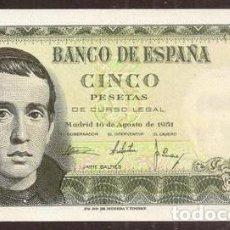Billetes españoles: ESPAÑA. 5 PESETAS 1951. SERIE 1L.. Lote 296743168