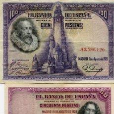 Billetes españoles: TRES BILLETES DE LA REPUBLICA ( BES35 ). Lote 296748753