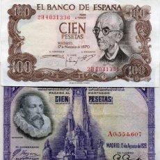 Billetes españoles: TRES BILLETES DE 100 PESETAS DIFERENTES ( BES43 ). Lote 296749093
