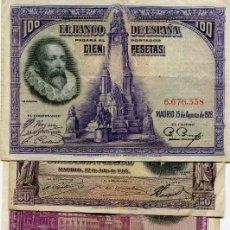 Billetes españoles: 6 BILLETES DIFERENTES ( BES44 ). Lote 296749128