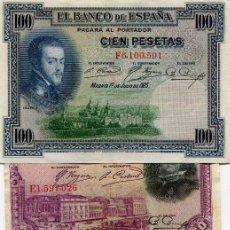 Billetes españoles: 6 BILLETES DIFERENTES ( BES46 ). Lote 296749183