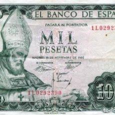 Billetes españoles: BILLETE DE 1000 PESETAS MADRID AÑO 1965 ( CIRCULADO ) ( BES47 ). Lote 296749243