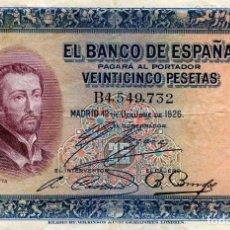 Billetes españoles: BILLETE DE 25 PESETAS MADRID AÑO 1926 ( CIRCULADO ) ( BES48 ). Lote 296749263