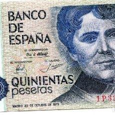 Billetes españoles: BILLETE DE 500 PESETAS MADRID AÑO 1979 ( EBC ) ( BES50 ). Lote 296749323
