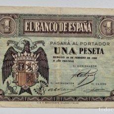 Billetes españoles: BILLETE 1 PESETA 1938 FEBRERO. Lote 296867903