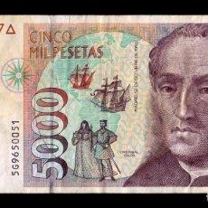 Billetes españoles: ESPAÑA 5000 PESETAS CRISTÓBAL COLÓN 1992 PICK 165 SERIE 5G MBC VF. Lote 296868518