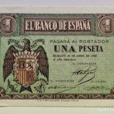 Billetes españoles: BILLETE 1 PESETA 1938 ABRIL SC/SC-. Lote 296868643