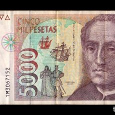 Billetes españoles: ESPAÑA 5000 PESETAS CRISTÓBAL COLÓN 1992 PICK 165 SERIE 1M MBC VF. Lote 296871033