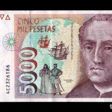 Billetes españoles: ESPAÑA 5000 PESETAS CRISTÓBAL COLÓN 1992 PICK 165 SERIE 4C EBC XF. Lote 296875583