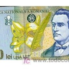Billetes extranjeros: RUMANIA 1000 LEI 1998. Lote 4507320