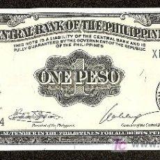 Billetes extranjeros: FILIPINAS: 1 PESO 1949 SC PICK 133. Lote 70359303