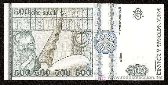 Billetes extranjeros: RUMANIA: 500 Lei 1992 S/C Pick 101 - Foto 2 - 276802018