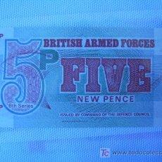 Billetes extranjeros: BILLETE INGLATERRA. FUERZAS ARMADAS BRITÁNICAS. 5 PENIQUES. 1972. . Lote 5488802