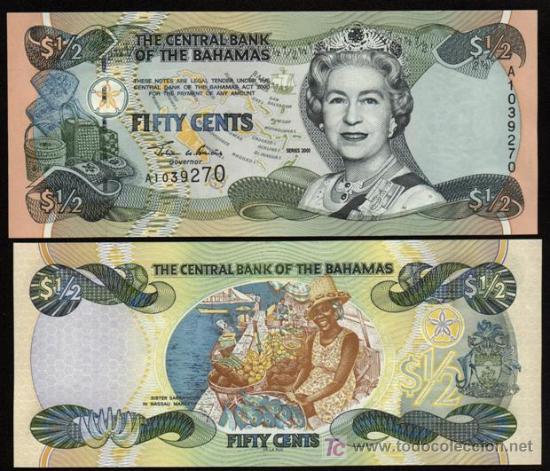 BAHAMAS. 1/2 DOLLAR SERIES 2001. PICK 68. S/C. MUY BONITO. (Numismática - Notafilia - Billetes Extranjeros)
