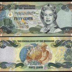 Banconote internazionali: BAHAMAS. 1/2 DOLLAR SERIES 2001. PICK 68. S/C. MUY BONITO.. Lote 202907458