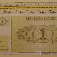 Billetes extranjeros: BILLETE DE ESLOVENIA. 1 TÓLAR. . . Lote 6783073