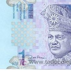 Billetes extranjeros: 6MAL-39. MALASIA P-39. 1 RINGITT 2000. PLANCHA. Lote 7556190