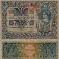 Billetes extranjeros: IMPERIO AUSTRO HUNGARO 1000 CORONAS 1902. Lote 8798984