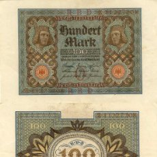 Billetes extranjeros: 100 MARCOS - REICHSBANKNOTE - BERLIN, 1-NOVIEMBRE-1920. Lote 9431390