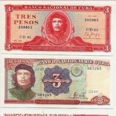 Billetes extranjeros: LOTE DE 3 BILLETES DIFERENTES DEL CHE GUEVARA, SIN CIRCULAR, PLANCHA ,CUBA, RB. Lote 159897580