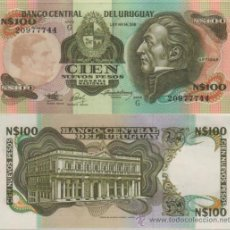 Internationale Banknoten - BILLETE URUGUAY - 100 NUEVOS PESOS - 1987 - PICK: 62A - PLANCHA - 26921751