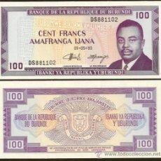 Banconote internazionali: BURUNDI. 100 FRANCS 1.5.1993. PICK 29C. S/C.. Lote 261790230
