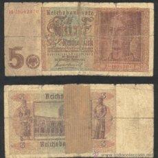 Billetes extranjeros: ALEMANIA 5 REICHSMARK 1942 CON SVASTICA .H-1904. Lote 27283106