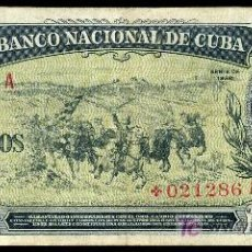 Billetes extranjeros: CUBA, BILLETE DE LA SERIE DE REPOSICION DE 5 PESOS 1958 EBC-. Lote 26801980