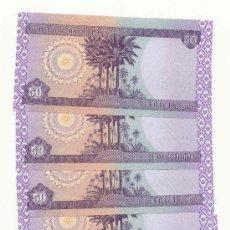 Billetes extranjeros: LOTE DE CINCO BILLETES DE IRAQ 50 DINARES AÑO 2003. Lote 27255153