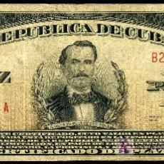 Billetes extranjeros: CUBA : 10 PESOS CERTIFICADO DE PLATA 1938 BUEN MBC. Lote 17633681