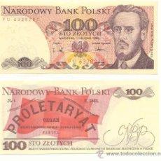 Billetes extranjeros: LOTE DE 5 BILLETES DE POLONIA 100 ZLOTICH 1988. Lote 12381208