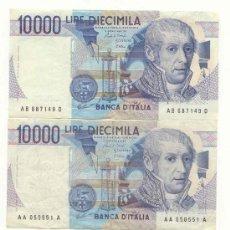 Billetes extranjeros: LOTE DE 3 BILLETES ITALIANOS . Lote 26571868
