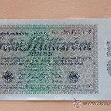 Billetes extranjeros: ALEMANIA 1923 BILLETE DE LA INFLACIÓN ANTES DE LA GUERRA.10 BILLONES DE MARCOS.. Lote 13879423
