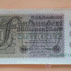 Billetes extranjeros: ALEMANIA 1923 BILLETE DE LA INFLACIÓN ANTES DE LA GUERRA.500 MILLONES DE MARCOS.. Lote 13879534