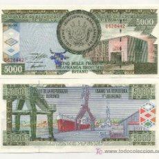 Billetes extranjeros: BURUNDI 5000 FRANCS 5-2-1999 PICK 42.A SC. Lote 27122136