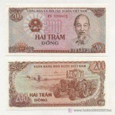 Billetes extranjeros: VIETNAM 200 DONG 1987 PICK 100 SC. Lote 155631550