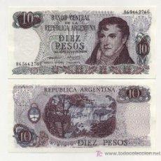 Billetes extranjeros: ARGENTINA 10 PESOS ND 1973-76 PICK 295 SC. Lote 16777238