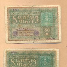 Billetes extranjeros: BBL51 - ALEMANIA - 50 MARCOS BERLÍN 24.06.1910 M.B.C DOS BILLETES .ALEMANIA - 50 MARCOS BERLÍN . Lote 23349196