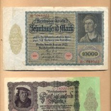Billetes extranjeros: BILLETE 91 - ALEMANIA: 50000 MARCOS 19.11.1922 - 10000 MARCOS 19.01.1922 DOS BILLETES DE BERLÍN. Lote 26285132
