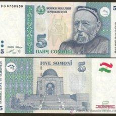 Banconote internazionali: TAJIKISTAN. 5 SOMONI 1999(2000). PICK 15. S/C.. Lote 205260713