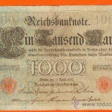 Billetes extranjeros: 1000 MARCOS ALEMANES 1910. MBC. Lote 26267261