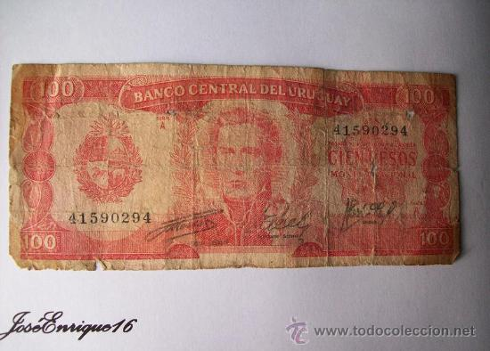 URUGUAY BILLETE 100 PESOS (Numismática - Notafilia - Billetes Extranjeros)