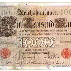 Billetes extranjeros: ALAMANIA - BERLIN 1910, 1000 MARKOS, ESTADO MBC++. Lote 26942638