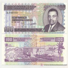 Billetes extranjeros: BURUNDI 100 FRANCS 1-8-2001 PICK 37 SC. Lote 16563298